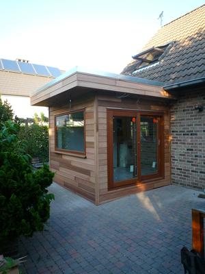 R alisations d 39 extensions bois for Agrandissement maison 25m2