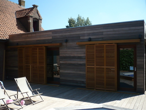 R alisations d 39 extensions bois for Extension maison 25m2